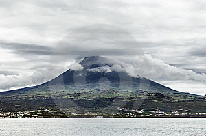 Pico Volcano View From The Sea, Pico Island, Azore Stock Photos - Image: 6660253