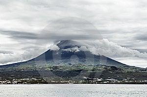 Pico Volcano View From The Sea, Pico Island, Azore Stock Photos - Image: 6660253