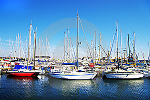 Yachts On Sunny Bay Royalty Free Stock Photo - Image: 6660555