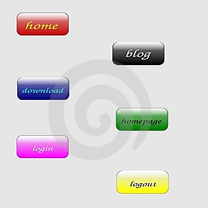 WEB Buttons Stock Image - Image: 6660561
