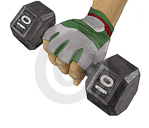 Lifting Weight Stock Image - Image: 6661441