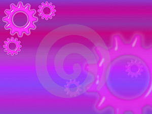 Pink Cogs Template Royalty Free Stock Photography - Image: 6662277