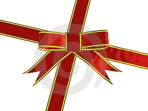 Red Ornamental Bow Stock Photo - Image: 6664710