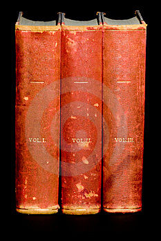 Row Of Old Leather Bound Books Royalty Free Stock Photos - Image: 6666008