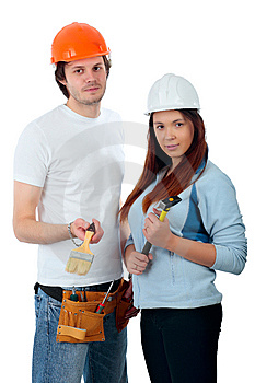 Uniform worker Stock Photography