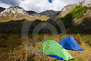 Two Tents Royalty Free Stock Photo - Image: 6667835