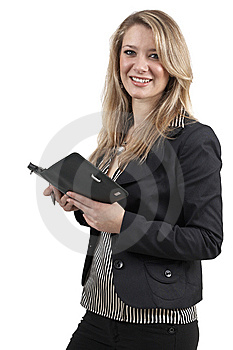 Beautiful Blonde Businesswoman Royalty Free Stock Photos - Image: 6669208