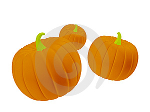 Orange Halloween Pumpkins Stock Photos - Image: 6670113