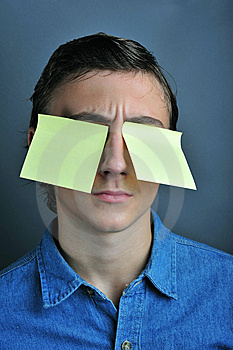Yellow Notes On Eyes Stock Images - Image: 6670894