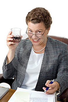 Drinking On The Job Royalty Free Stock Images - Image: 6670949