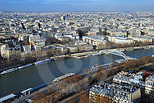 Paris Bird's Eye View Stock Photography - Image: 6671762