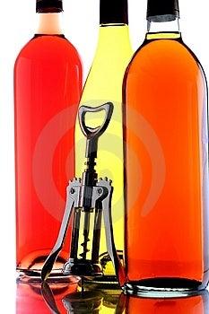 Wine Bottles & Corkscrew Stock Photo - Image: 6672980