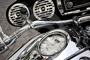 Motorcycle Speed Gauge Stock Photos - Image: 6673493