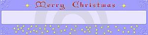 Banner Christmas Stock Image - Image: 6674751