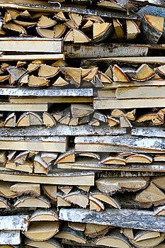 pile de bois de chauffage de bouleau photo stock image 6676130. Black Bedroom Furniture Sets. Home Design Ideas