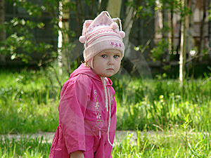 Little Girl On Nature Stock Image - Image: 6676601