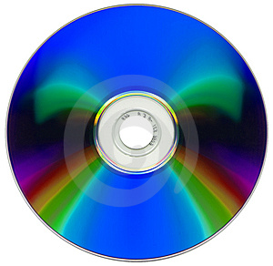 Compact Disk Isolated On White Stock Image - Image: 6678631