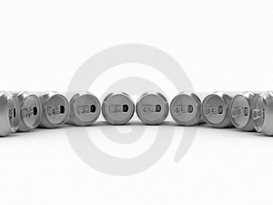 Beer In Aluminum Banks Royalty Free Stock Photos - Image: 6679258