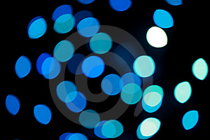 Defocused Blue Christmas Lights Stock Images - Image: 6679694
