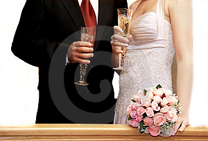 Just Married Couple Royalty Free Stock Photo - Image: 6680355