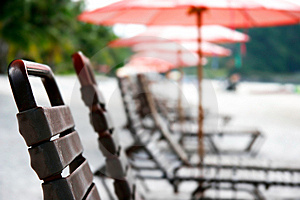 Close Up Of Beach Chairs Royalty Free Stock Photography - Image: 6680517