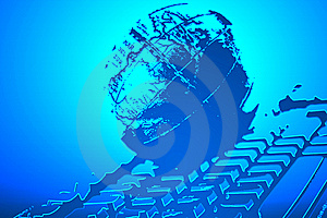 Planet Keyboard Royalty Free Stock Images - Image: 6681009