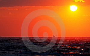 Coastal Sunrise Trawler Royalty Free Stock Photos - Image: 6681478