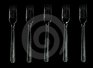 Plastic Forks Stock Photos - Image: 6683023
