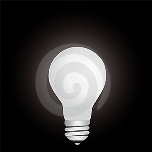 Lamp In The Dark Royalty Free Stock Images - Image: 6683589