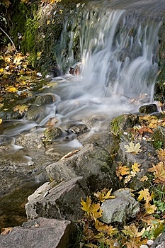 Autumn Waterfall Royalty Free Stock Photos - Image: 6685958