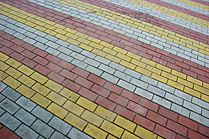 Multicolor Brick Pavement Royalty Free Stock Photos - Image: 6686838