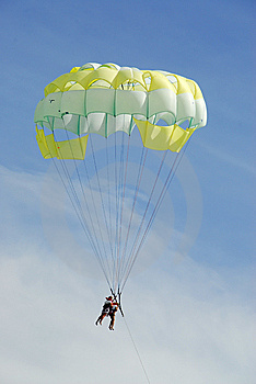 Parachute Flight Stock Photos - Image: 6686883
