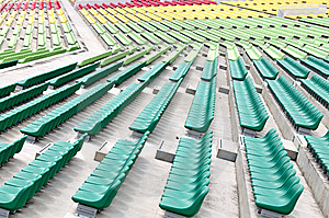Empty Colourful Spectator Chairs Royalty Free Stock Photography - Image: 6688087