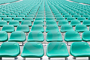 Empty Spectator Chairs Stock Images - Image: 6688694