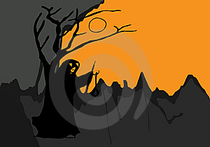 Ghost Night Halloween Stock Image - Image: 6692431