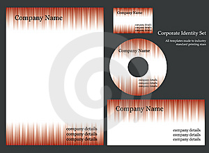 Corporate Identity Template Royalty Free Stock Photo - Image: 6693195