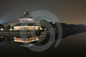 Moat & Turret, Forbidden City Royalty Free Stock Photos - Image: 6693358