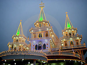 Illuminated Church Stock Images - Image: 6693564