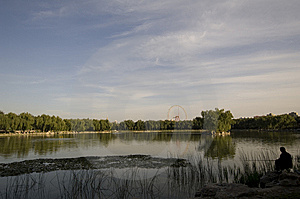 Angling In Park Royalty Free Stock Image - Image: 6693846