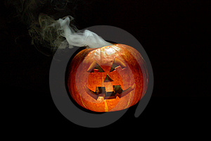 Smoking Pumpkin Royalty Free Stock Photos - Image: 6694068