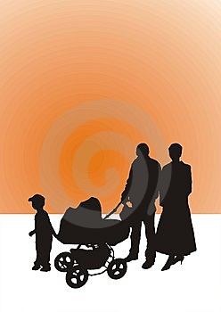 Family-silhouette Stock Image - Image: 6694551