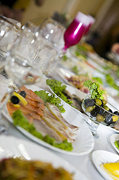 Table At Restaurant. Royalty Free Stock Photo - Image: 6696835