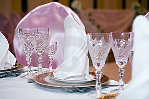 Table At Restaurant. Royalty Free Stock Photography - Image: 6697717