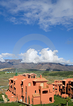 Roof Of Spanish Apartment With Tv Satellite Dish Royalty Free Stock Photo - Image: 671545
