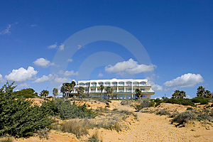 Luxury White Spanish Hotel On The Beach Stock Photo - Image: 672990
