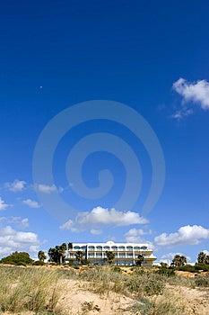 Luxury White Spanish Hotel On The Beach Stock Photo - Image: 673000