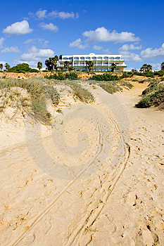 Luxury White Spanish Hotel On The Beach Stock Photography - Image: 673042