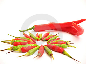 Big And Small Chillies Royalty Free Stock Image - Image: 675136