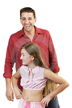 Father And Daughter Royalty Free Stock Image - Image: 675546