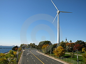 Windmill Highway Stock Image - Image: 6700131